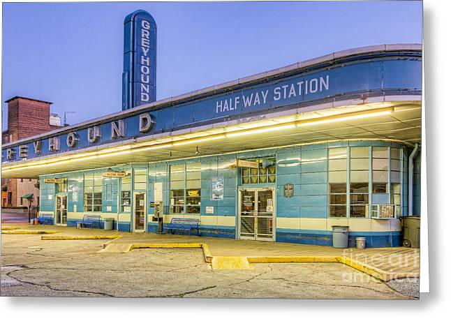 Jackson Greyhound Bus Station IIi Greeting Card by Clarence Holmes