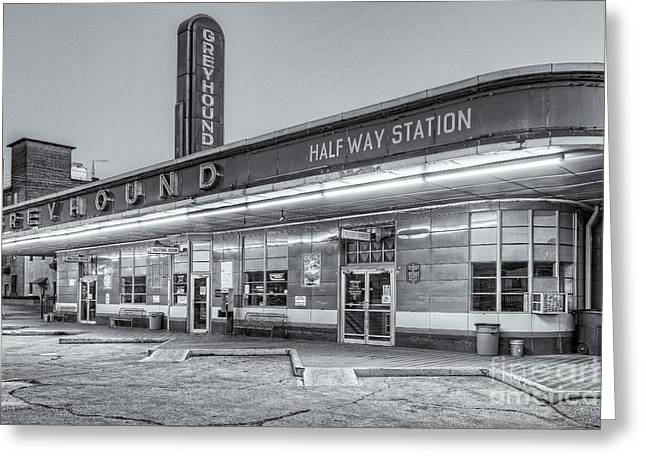 Jackson Greyhound Bus Station Iv Greeting Card by Clarence Holmes