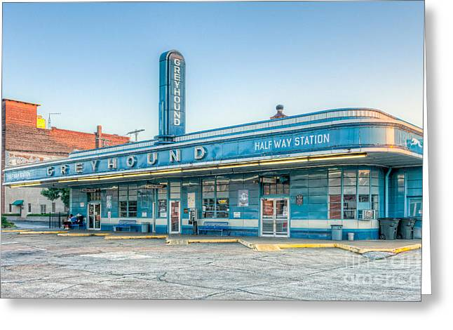 Jackson Greyhound Bus Station V Greeting Card by Clarence Holmes