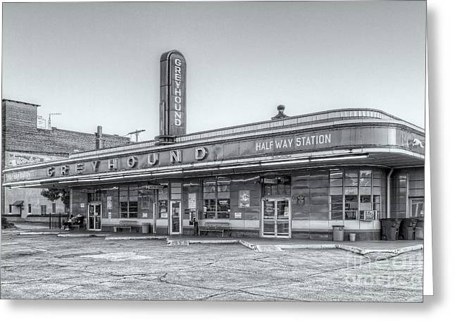 Jackson Greyhound Bus Station Vi Greeting Card by Clarence Holmes