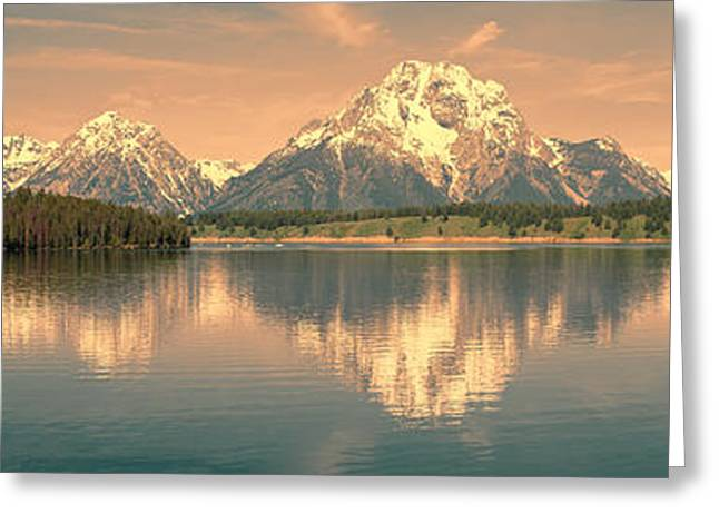 Jackson Lake Sunrise - Grand Teton Greeting Card