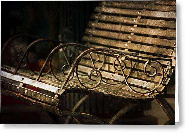 Jackson Square Bench Greeting Card by Brenda Bryant