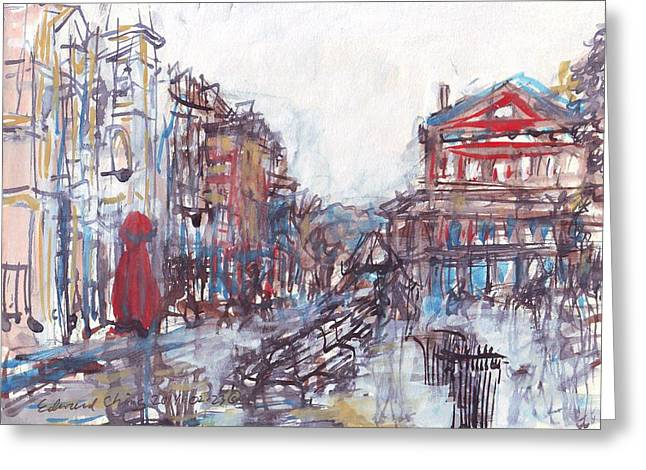 Jackson Square French Quarter Greeting Card by Edward Ching