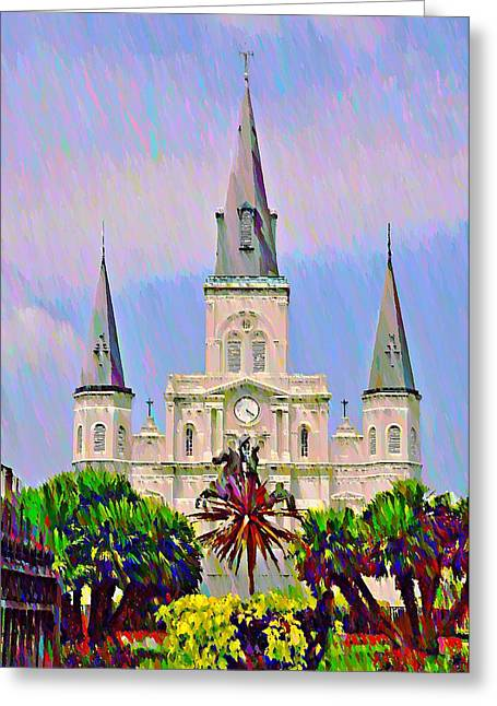 Jackson Square In The French Quarter Greeting Card by Bill Cannon