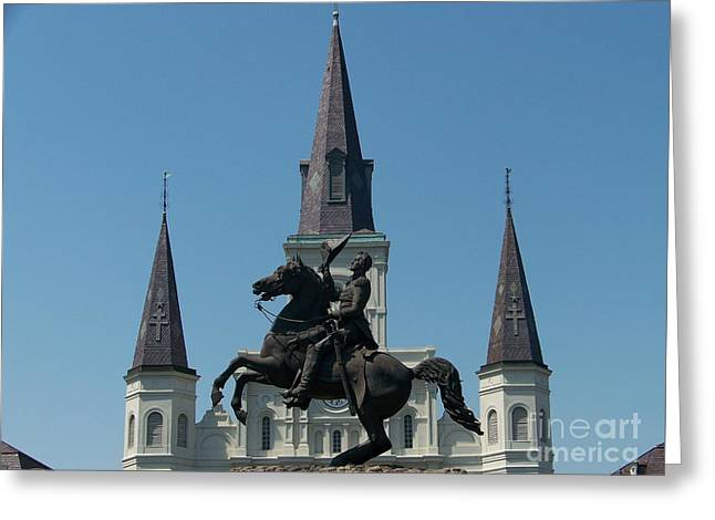 Jackson Square Salute Greeting Card by Kevin Croitz
