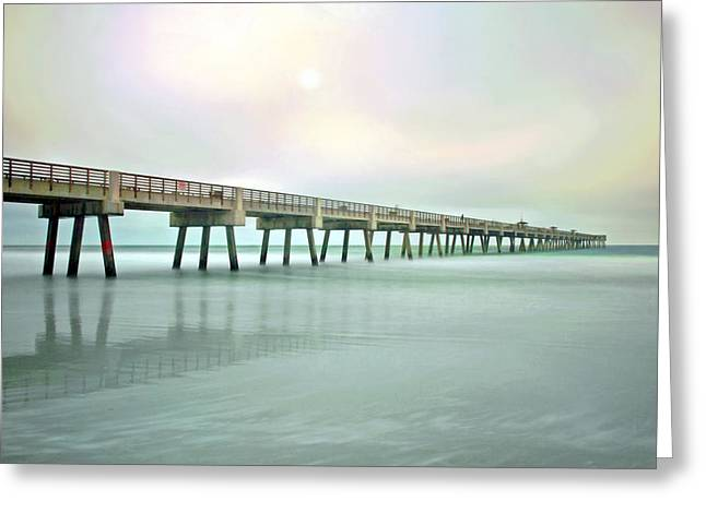 Jacksonville Beach Pier Greeting Card