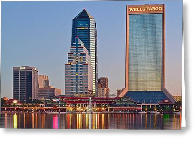 Jacksonville Florida Panorama Greeting Card by Frozen in Time Fine Art Photography