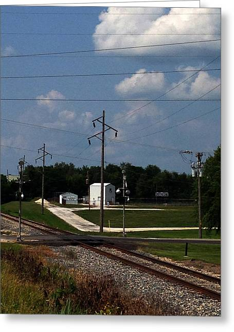 Jacksonville Il Rail Crossing 1 Greeting Card by Jeff Iverson