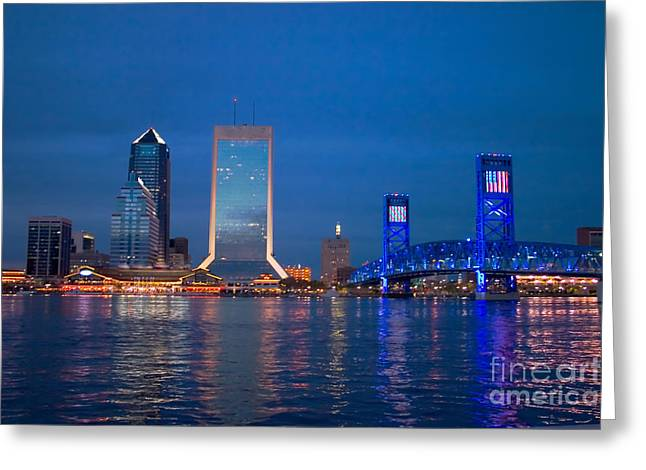 Jacksonville Nightscape Greeting Card