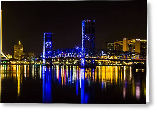 Greeting Card featuring the photograph Jacksonville Skyline by Paula Porterfield-Izzo