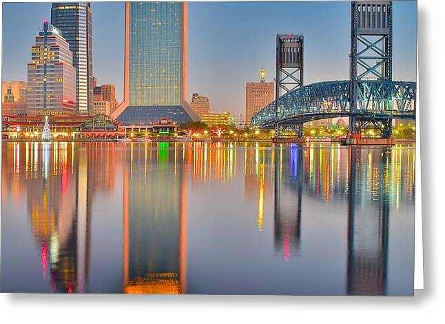 Jacksonville Squared Greeting Card by Frozen in Time Fine Art Photography