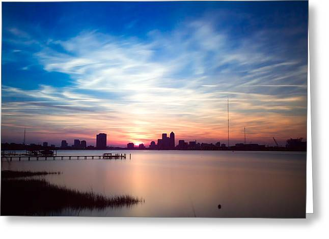 Jacksonville Sunset In May 2014 Greeting Card by Jeff Turpin