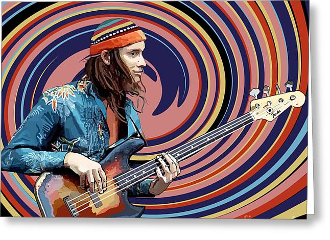 Jaco Pastorius Greeting Card by Kevin Sweeney