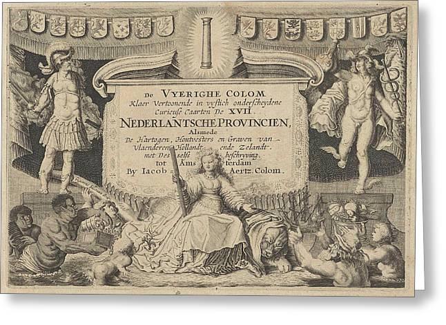 Jacob Aertz Colom, De Vyerighe Colom, Klaer Vertoonende De Greeting Card by De Vyerighe Colom