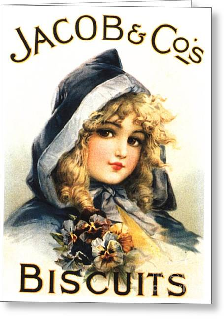 Jacob�s 1890s Uk  Biscuits  Warning - Greeting Card by The Advertising Archives
