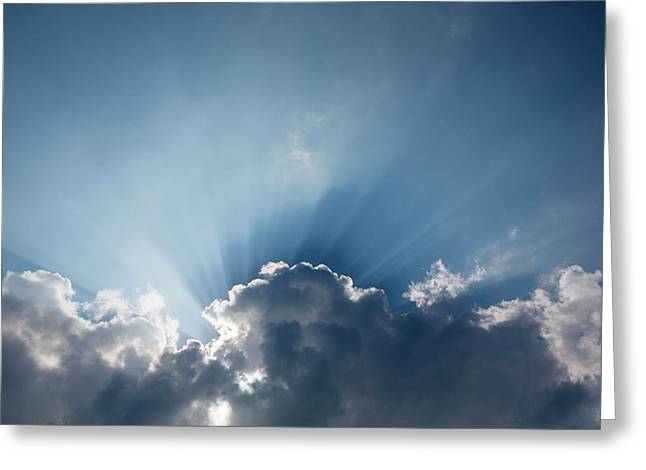 Jacobs Ladders Or Shafts Of Sunlight Greeting Card