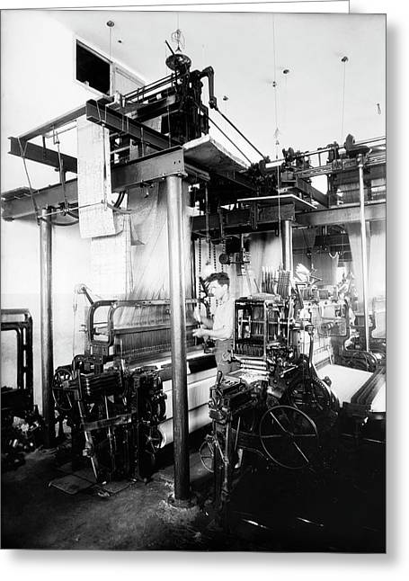 Jacquard Loom In Palestine Greeting Card by Library Of Congress