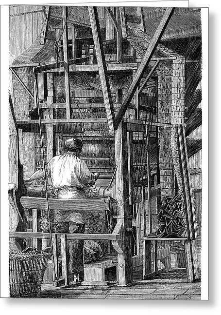 Jacquard Loom Greeting Card by Science Photo Library