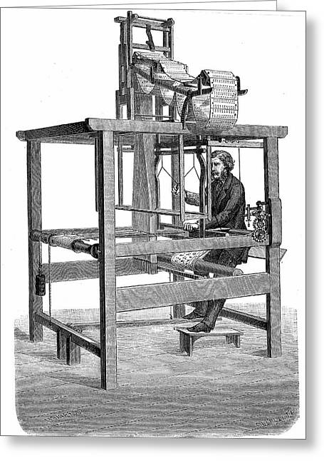 Jacquard Loom Greeting Card by Universal History Archive/uig