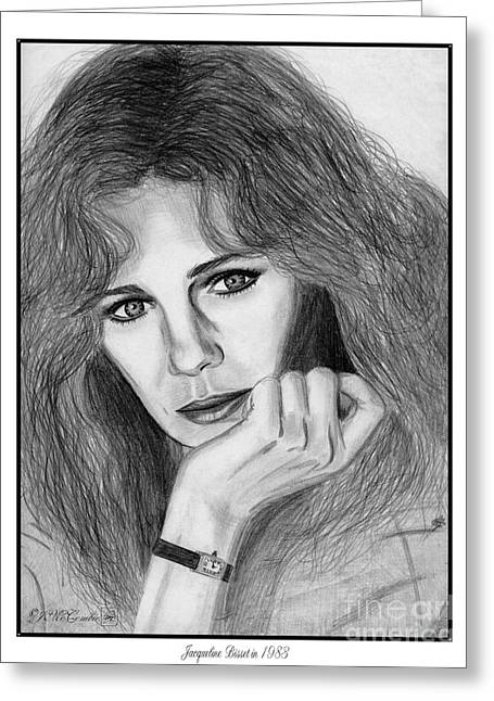Jacqueline Bisset In 1983 Greeting Card by J McCombie
