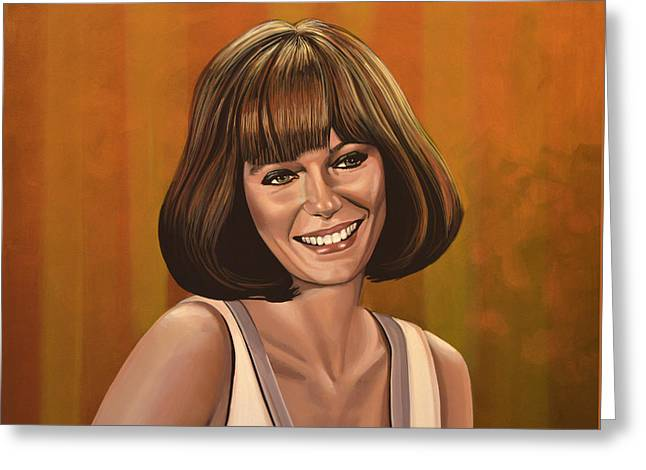 Jacqueline Bisset Painting Greeting Card by Paul Meijering