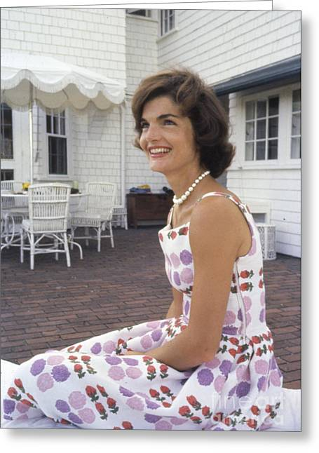 Jacqueline Kennedy At Hyannis Port 1959 Greeting Card