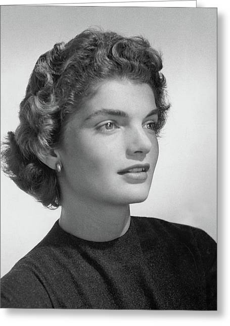 Jacqueline Kennedy Onassis Greeting Card by Horst P. Horst
