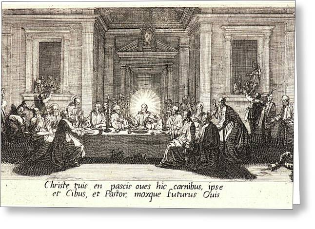 Jacques Callot French, 1592 - 1635. Last Supper La Céne Greeting Card by Litz Collection