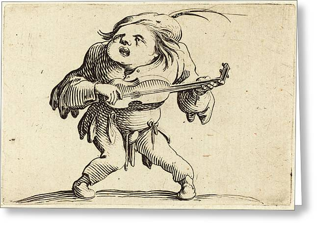 Jacques Callot French, 1592 - 1635, The Guitar Player Greeting Card