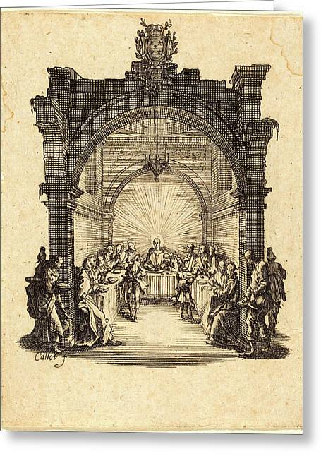 Jacques Callot, French 1592-1635, The Last Supper Greeting Card by Litz Collection