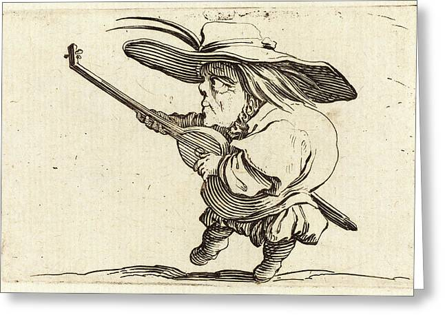 Jacques Callot, French 1592-1635, The Lute Player Greeting Card