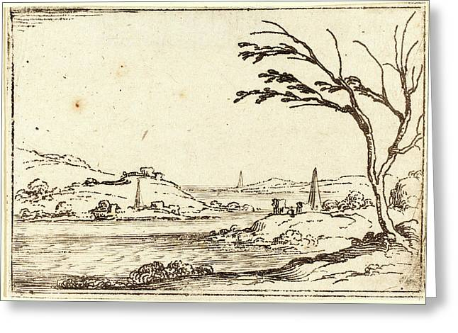 Jacques Callot, French 1592-1635, The Nile Flooding Greeting Card by Litz Collection