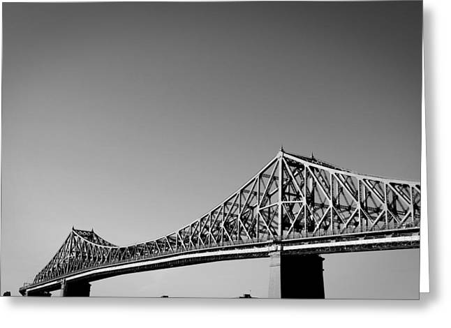 Jacques Cartier Bridge Montreal Metro 1 Greeting Card by Eric Soucy