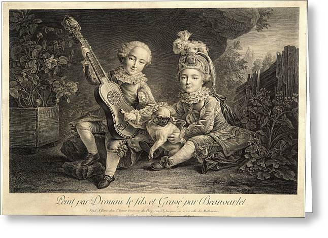 Jacques Firmin Beauvarlet French, 1731-1797 Greeting Card