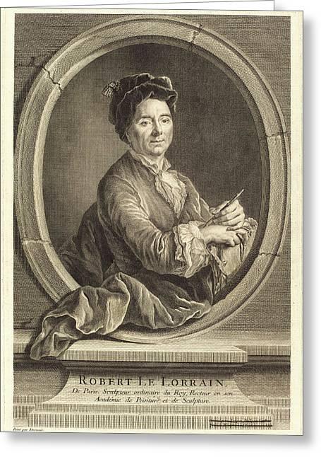 Jacques-philippe Le Bas After Hubert Drouais Greeting Card