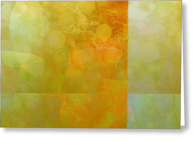 Jade And Carnelian Abstract Art  Greeting Card by Ann Powell