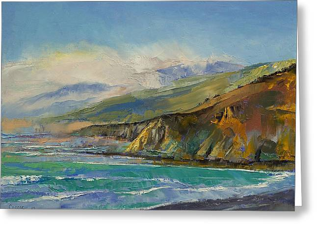 Jade Cove Greeting Card by Michael Creese