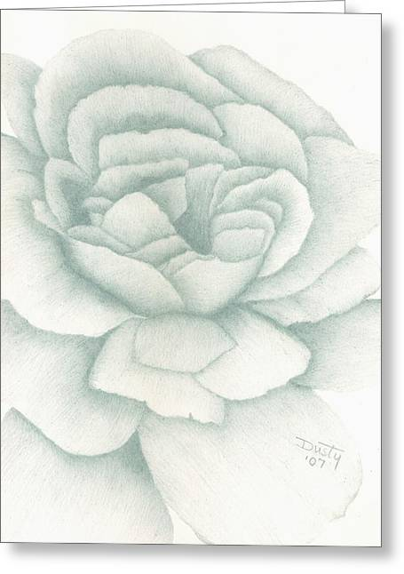 Jade Rose Greeting Card by Dusty Reed
