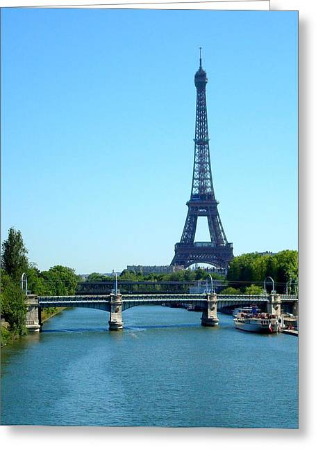 Greeting Card featuring the photograph J'adore Paris by Kay Gilley