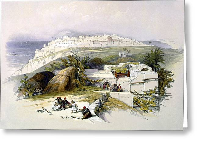 Jaffa 1839 Greeting Card by Munir Alawi