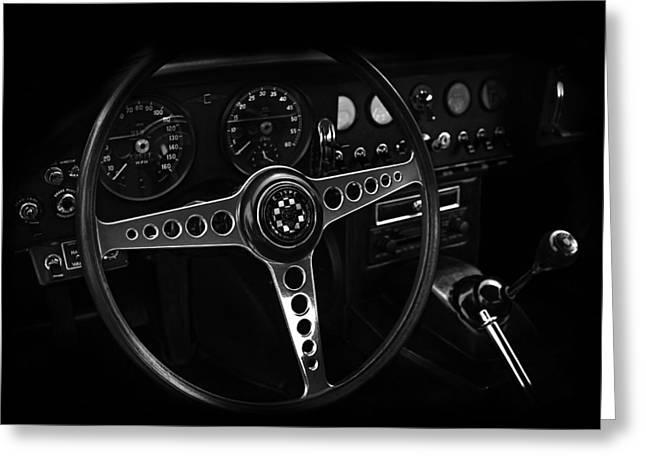 Jaguar E Type Interior Greeting Card by Mark Rogan