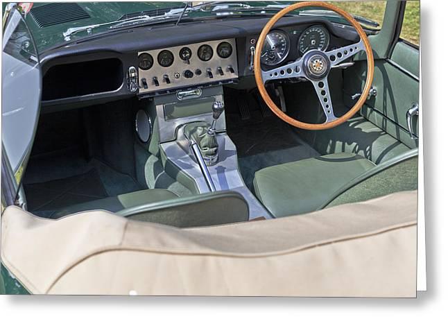 Jaguar E-type Series 1 Greeting Card by Maj Seda