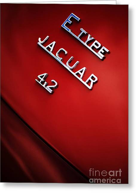 Jaguar E Type Greeting Card by Tim Gainey