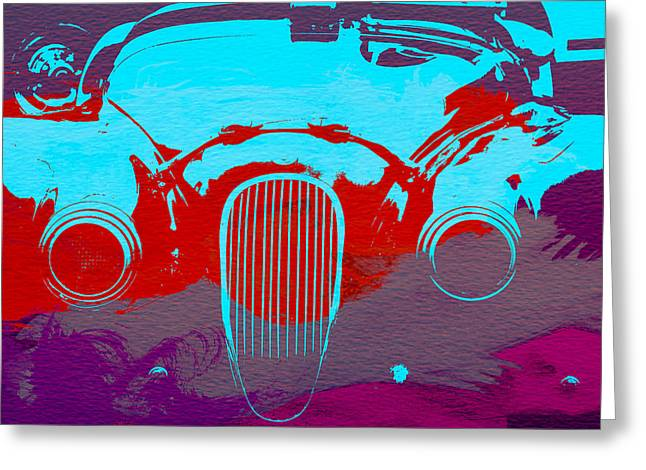 Jaguar Front End Greeting Card by Naxart Studio