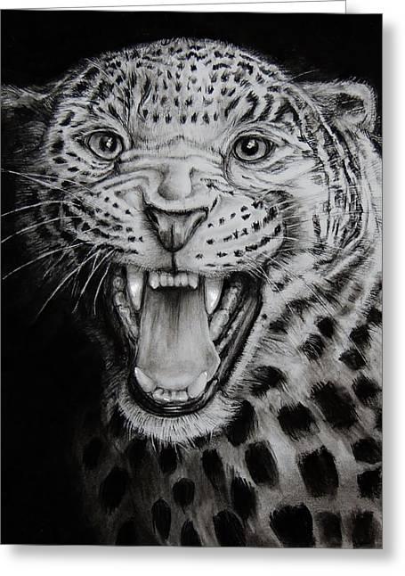 Jaguar Greeting Card by Jean Cormier