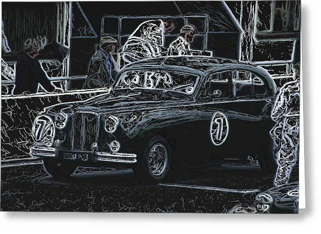 Jaguar Markvii 1952 Greeting Card by John Colley