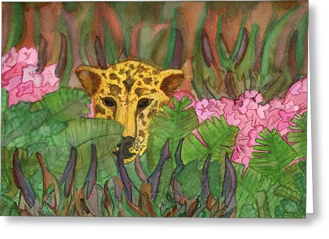 Jaguar Prowl Greeting Card