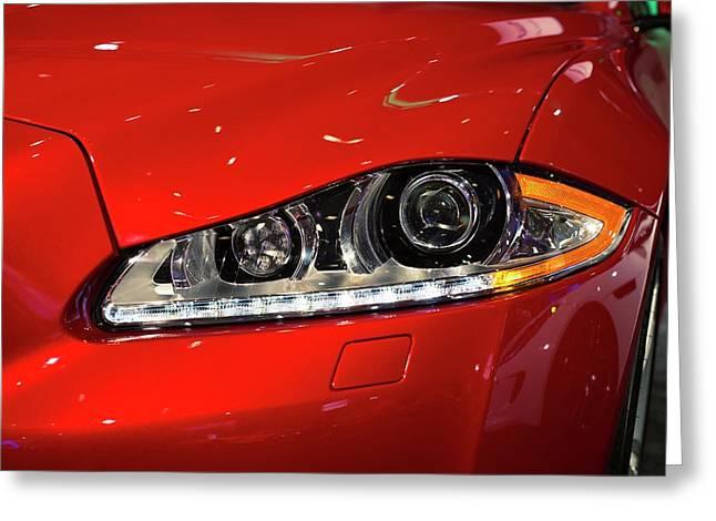 Jaguar Xjr Headlights Greeting Card