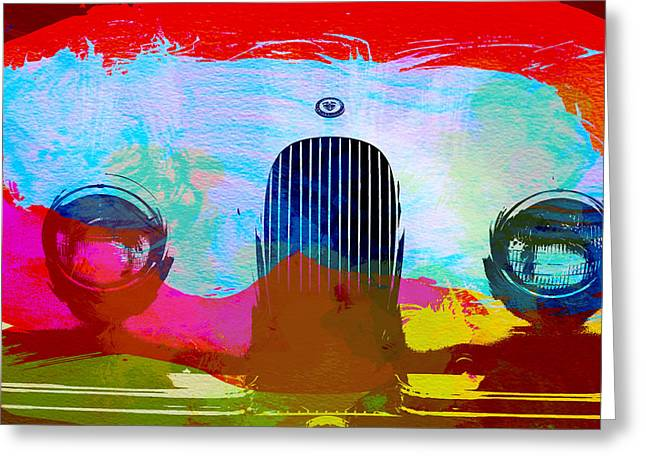 Jaguar Xk Front Greeting Card by Naxart Studio