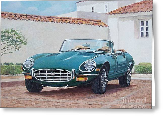 Jaguar Xke 1961-1975 Greeting Card
